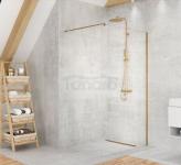 NEW TRENDY Kabina ścianka prysznicowa walk-in VELIO SATIN GOLD 140x200 8mm D-0201B