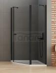 NEW TRENDY Kabina prysznicowa pięciokątna NEW SOLEO BLACK 100x80x195 K-0614
