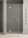 NEW-TRENDY drzwi prysznicowe wnękowe pojedyńcze ze ścianką REFLEXA PLUS