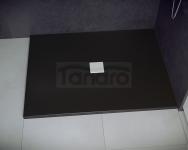 BESCO - Brodzik prysznicowy NOX BLACK ULTRASLIM  100X80X3