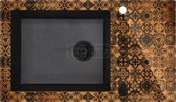 DEANTE - Zlewozmywak CAPELLA PRECIOUS szklano-granitowy 1-komorowy z ociekaczem MIEDZIANY  ZSC GM2C