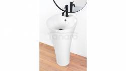 REA - Umywalka ceramiczna wolnostojąca AGNES biała