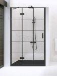 NEW TRENDY - Drzwi wnękowe New Renoma BLACK 90x195  D-0271A  LEWE
