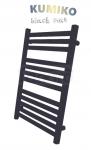 GAMABIK - Grzejnik łazienkowy KUMIKO 1550/540 CZARNY MAT moc 694W