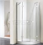 WANA - Kabina prysznicowa półokrągła ATTU Easy Clean linia PERFECT
