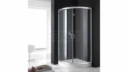REA - Kabina prysznicowa COSMO półokrągła z brodzikiem