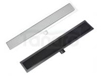 AQUALine Odpływ liniowy podłogowy szklany CZARNY LUB BIAŁY szkło hartowane 80cm C21BK/WT800