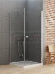 New Trendy - Kabina prysznicowa kwadratowa pojedyncze drzwi uchylne NEW SOLEO / Linia Gold