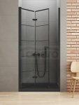 NEW TRENDY - Drzwi składane wnękowe New Soleo BLACK 90x195   D-0283A  LEWE