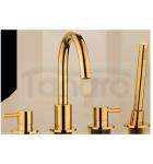OMNIRES - Bateria wannowa 4-otworowa złota/ gold Y1232GL Y