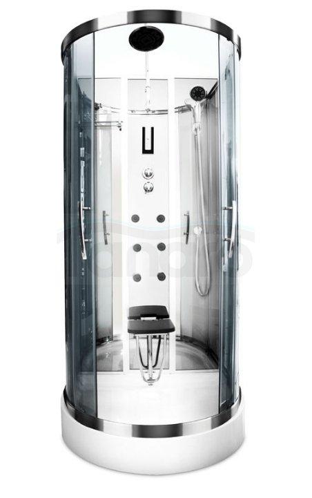 Durasan - Kabina prysznicowa z hydromasażem przyścienna RIO NS 100 OPEN / ETNA