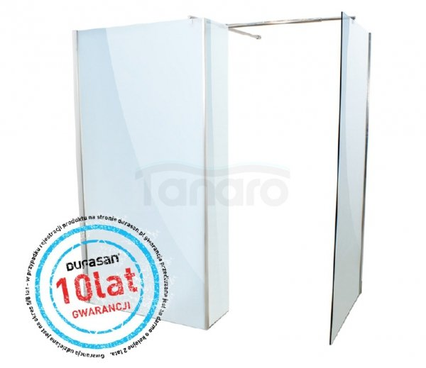 DURASAN - Kabina prysznicowa WALK - IN SMART Plus Nano Glass (Easy Clean)