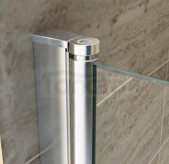 REA - Drzwi prysznicowe WESTERN SPACE z powłoką  N2 80cm Easy Clean