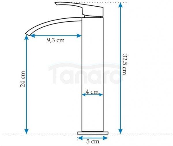 REA - Bateria umywalkowa Enzo HIGH wysoka