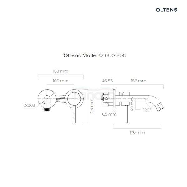 OLTENS Bateria umywalkowa podtynkowa MOLLE złota/gold 32600800