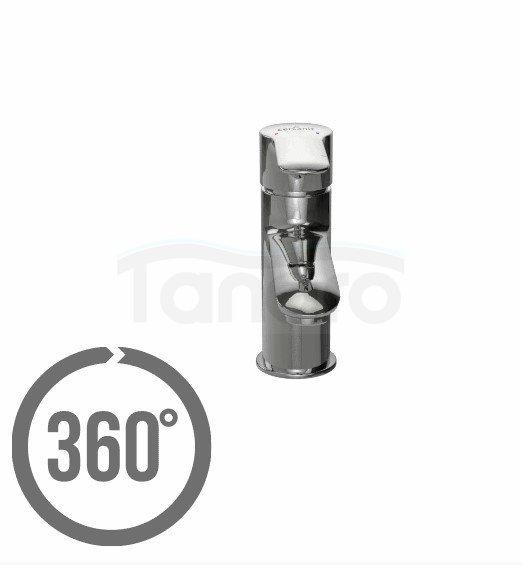 CERSANIT - Bateria umywalkowa stojąca z korkiem LUMI Solution S951-043