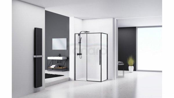 REA - Kabina prysznicowa prostokątna SOLAR BLACK 80x100