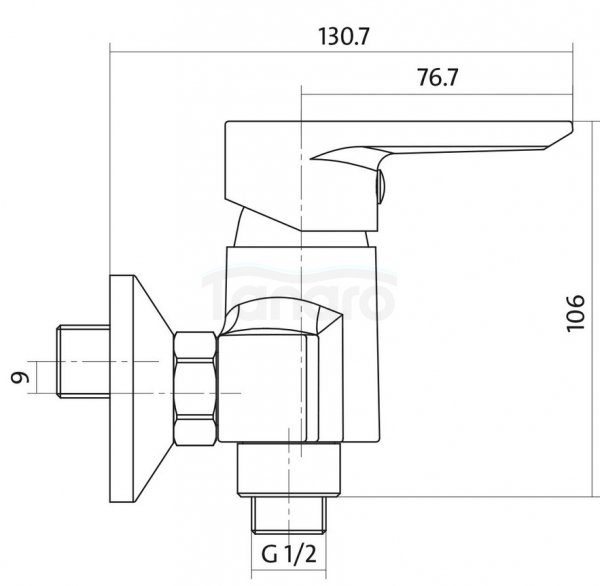 CERSANIT - Bateria natryskowa ścienna VERO Solution S951-028