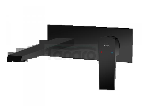 VEDO - bateria SETTE NERO umywalkowa ścienna VBS7012CZ