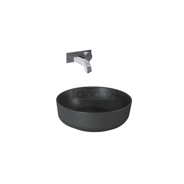 ELITA Umywalka ceramiczna LORCA 42x42 ANTHRACITE MAT 145007