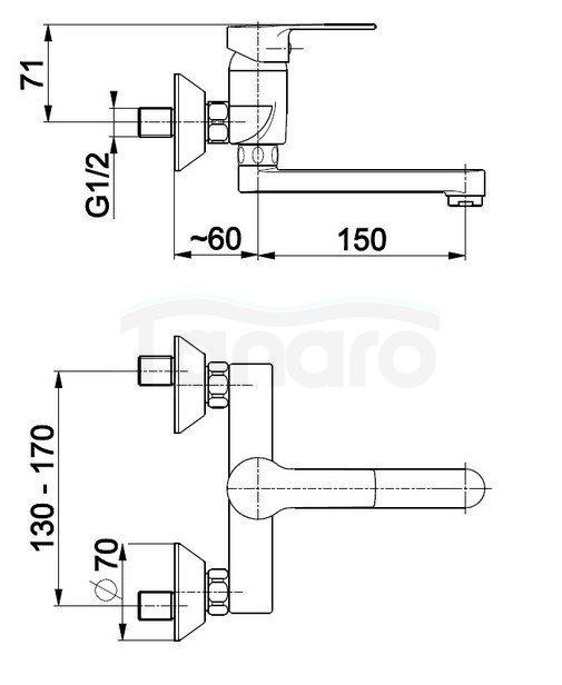 ARMATURA KRAKÓW - Bateria umywalkowa, jednouchwytowa MOHIT 5910-810-00