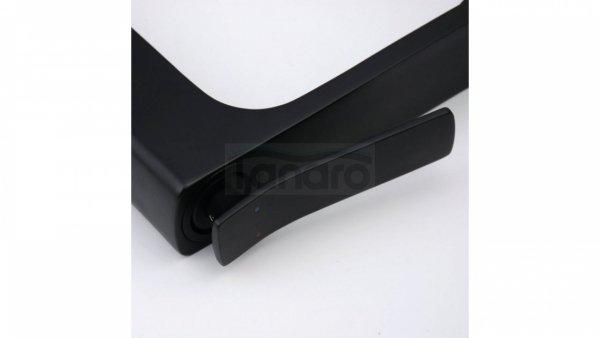 REA - Bateria umywalkowa SONIC czarna BLACK wysoka HIGH