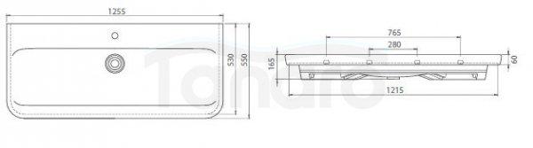 CeraStyle - Umywalka meblowa / ścienna MODUS ceramiczna