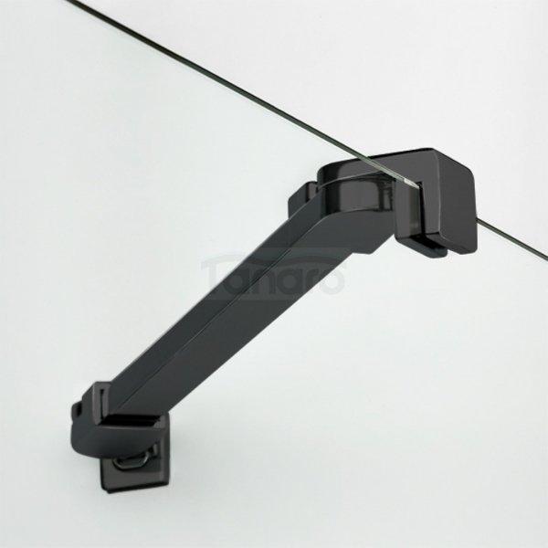 NEW TRENDY - Kabina prostokątna New Renoma BLACK 100x90x195  D-0206A/D-0111B  PRAWA