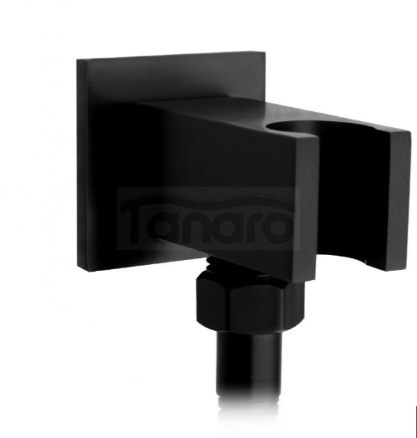 REA - Zestaw natryskowy podtynkowy czarny SOHO