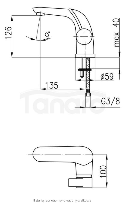 ARMATURA KRAKÓW - Malachit Bateria jednouchwytowa, umywalkowa 4402-811-00