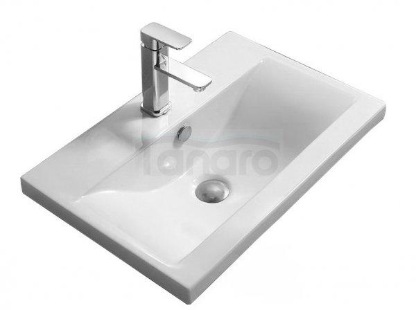 REA - Umywalka ceramiczna wpuszczana w blat AMY 50