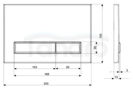 KK-POL Przycisk Biały M08  SPP/380
