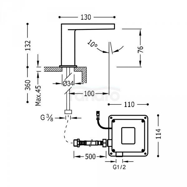 TRES - Bateria bezdotykowa TRESTRONIC Elektroniczna