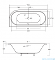 Besco Avita Slim + 150x75cm wanna asymetryczna prawa + syfon #WAV-150-SP+