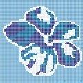 Dunin Q design mozaika szklana wzór 131x131 hibiskus