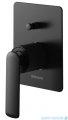 Kohlman Experience Black zestaw prysznicowy z deszczownicą kwadratową 25x25 cm czarny mat QW210EBR25