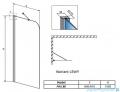 Radaway Torrenta PNJ Parawan nawannowy jednoczęściowy 80 lewy szkło przejrzyste 201101-101NL