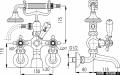 KFA RETRO-CLASSIC bateria wannowa CHROM   384-120-00