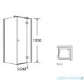 Sea Horse Fresh Line kabina natryskowa narożna kwadratowa lewa drzwi pojedyncze 90x90cm ze ścianką boczną BK247TL