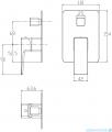 Omnires Parma system wannowy podtynkowy czarny SYSPMW01BL