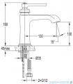 Omnires Armance bateria umywalkowa miedź antyczna AM5211ORB