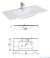 Elita Futuris szafka z umywalką 90x37x45cm biały połysk 166933/145845