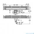 Viega odpływ liniowy ścienny kompletny (korpus + ruszt) regulowany 30-120 cm H-9/16cm (736552 + 736576)