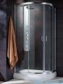 Radaway Premium Plus E Kabina prysznicowa 90x80 szkło brązowe