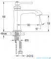 Omnires Armance bateria umywalkowa chrom AM5210CR