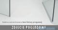 Eos PDD Radaway kabina prysznicowa 80x80 szkło przejrzyste 37613-01-01N