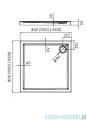 Novellini Kali A brodzik kwadratowy 80x80x5,5cm MNS806-30