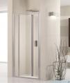 Novellini Drzwi prysznicowe harmonijkowe LUNES S 66 cm szkło przejrzyste profil biały LUNESS66-1D