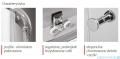 Atrium Treviso kabina półokrągła 90x90x190 cm szkło: przejrzyste FF0309