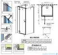 Radaway Essenza New Kdj+S kabina 90x100x90cm lewa szkło przejrzyste 385022-01-01L/384050-01-01/384050-01-01